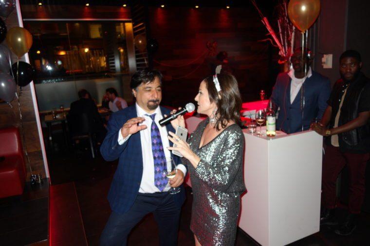 Karim and Laura share the mic, NYE 2016