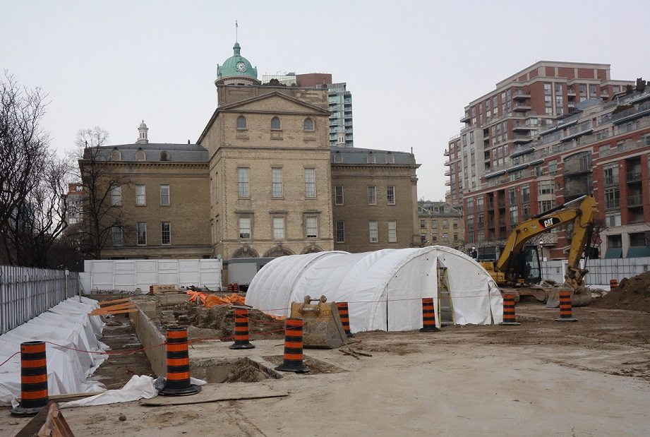 archeological dig under north building St Lawrence Market - Rob Campbell, Jan 16, 2017