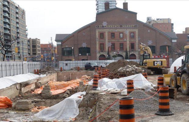 St Lawrence Market archeological dig 16 Jan 2017