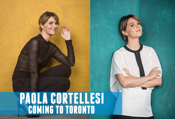 Paola Cortellesi Coming to Toronto